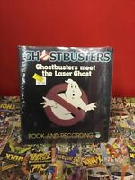 Ghostbusters Meet The Laser Ghost Read Along Book With 45RPM Record 1985, Sealed