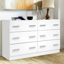 Artiss FURNI-M-KUBI-LBOY-WH-AB 6 Chest of Drawers Cabinet - White