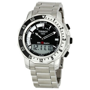 Tissot Swiss Made Sea-Touch Anadigi Alarm Chrono Men's Stainless Steel  Watch