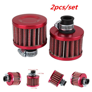2x 12mm RED CONE MINI OIL AIR INTAKE CRANKCASE VENT VALVE COVER BREATHER FILTER