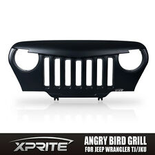 Angry Bird Custom Front End Matte Black Grille Grill for 97-06 Jeep Wrangler TJ