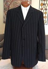 Stunning Paul Smith Wool 3 Btn Dual Vent Black Stripe Blazer Sz 46 L MINT!