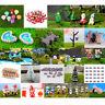 Lots Miniature Thatched House Fairy Garden Landscape Figurine Craft DIY Decor