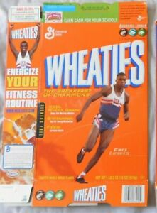 Carl Lewis Wheaties Cereal Box