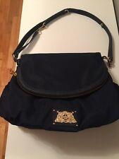 $248 Juicy Couture Diaper Bag Crossover Malibu Navy Vinyl 10 Pockets