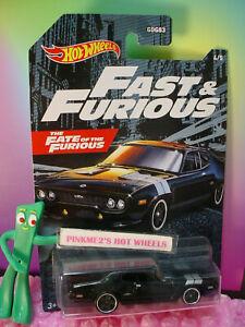 FAST&FURIOUS Fate the Furious '71 PLYMOUTH GTX #4☆black☆2021 Hot Wheels Walmart