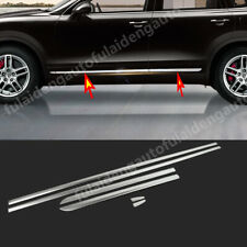 For Porsche Cayenne 2011-2017 stainless Side Body Door Moulding Lid Cover Trim