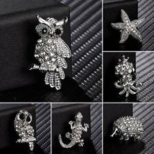 Fashion Full Crystal Animal Owl Starfish Women Breastpin Brooch Pin Jewellery