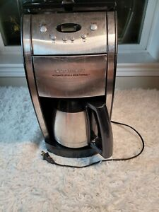 Tested and works Cuisinart Grind & Brew DGB-600BC 10-Cup Thermal Coffee Maker