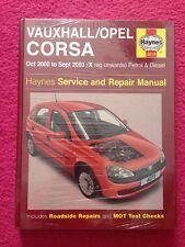 HAYNES Vauxhall/Opel CORSA OCT 2000-sept. 2003 Service and Repair Manual