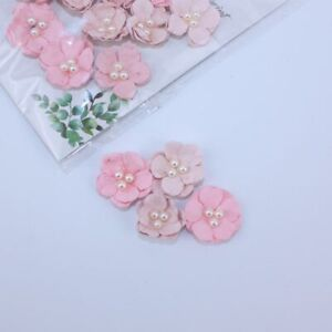 Pearl Flowers Blossoms Pink 24pcs Crafts Card Embellishments FL006