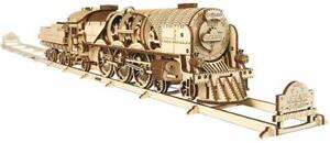 V-Express Steam Train with Tender  UGEARS - 3D Mechanical Puzzle