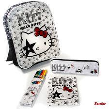 Hello Kitty KISS Rucksack,Federmäppchen,Bundstifte,Malblock,Kinderrucksack,Weiß