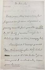 Jules MICHELET - Lettre autographe signée