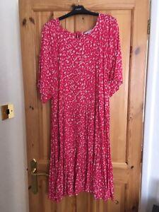 Next Size 26 Pink Summer Dress