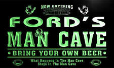 qa1102-g Ford's Man Cave Football Game Room Bar Neon Beer Sign