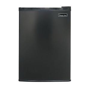 Magic Chef Mini Fridge 2.6 cu. ft. 2-Shelves Can Dispenser Reversible Door Black