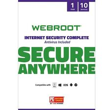 Webroot - Complete Internet Security + Antivirus Protection Software (10 De...