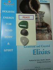 """Gemstone & Crystal ELISIR - """"pace"""" - Include 3 Gemme & 2 grandi libri."""