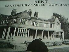 ephemera 1975 kent picture advert hardres court for sale