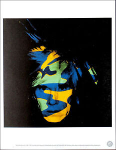 ANDY WARHOL Self Portrait Camouflage Official Litho Print 1989