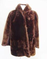 Chaqueta de Abrigo de Piel Cordero Marrón Tamaño Del Vestido: 44-46 Furs Меха