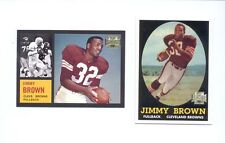 2001 Archives JIM BROWN Cleveland Browns Rookie Reprint + Final Card Set