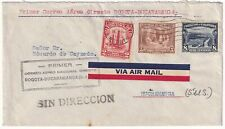 COLOMBIA - PRIVATE AIRMAIL CARRIER - SACO - FF COVER - BOGOTA to B/MANGA - 1934