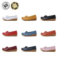 Women's Ladies Moccasins Pumps Comfy Soft Flats Loafer Leather Casual Boat Shoes