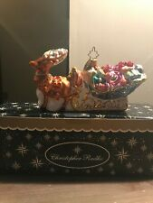 "Christopher Radko ""Leading the Way"" sleigh ornament with box"