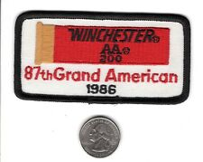 WINCHESTER 1986 87th GRAND AMERICAN PISTOLS FIREARM GUN PATCH-MICHIGAN DEER-BEAR