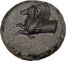 SYRACUSE in SICILY 343BC Nymph Pegasus Tyrant Timoleon RARE R2 Greek Coin i51584