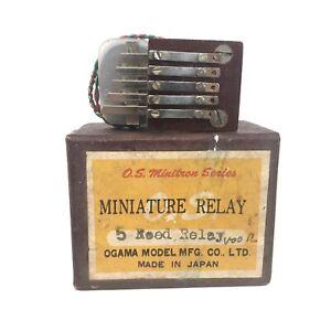 NOS Ogama O.S. Minitron 5 reed miniature relay