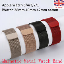 38/40/42/44mm For iWatch Strap Series 5/4/3/2/1 Magnetic Milanese Loop Band UK
