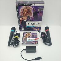 SingStar Vol. 2 for Sony PlayStation 3 PS3 with 2 Microphones Complete Tested