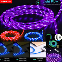 Flow LED Light-up Lightning Charging Cable Smart Charger iPhone 7 8 Plus XS Max