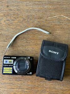 Sony CyberShot DSC-W120 7.2 MP Carl Zeiss Lens Silver Digital Camera With Case