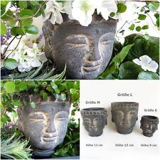Pflanztopf Buddha Pflanz kopf Garten Büste Blumen Topf schale Übertopf wetterfes