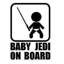 Baby Jedi on Board Aufkleber 18 cm schwarz Wunschfarbe oder Name