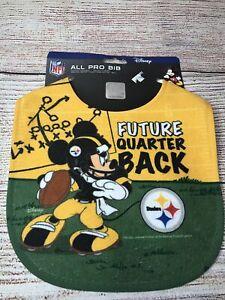 Pittsburgh Steelers Baby Bib Disney Mickey Mouse Feeding Infant NFL Football Fan