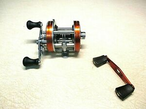 ABU GARCIA AMBASSADEUR FISHING REEL - COPPER 5500 W/ HANDLE - CLEAN & WORKS GOOD