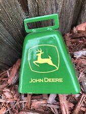 Vintage John Deere Tractor Metal Cow Bell Green & Yellow
