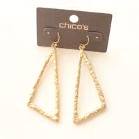 New Chicos Triangle Drop Dangle Earrings Gift Fashion Women Party Jewelry $25 FS