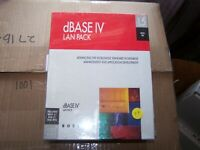 Borland dBase IV 1.5 LAN PACK with 3.5 and 5.25 disks New sealed in Box