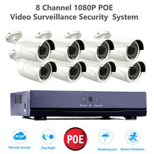 1080P 2MP Camera PoE 8CH Network HD NVR Video Security Surveillance CCTV System