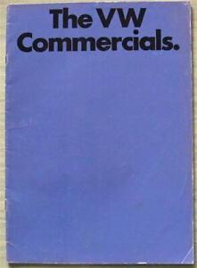 VW COMMERCIALS Van PICK UP Microbus Sales Brochure Aug 1972 # 24022/831 19022 09
