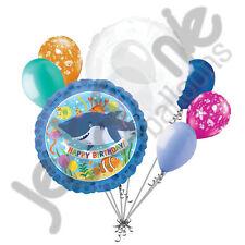 7 pc Ocean Buddies Happy Birthday Balloon Bouquet Fish Aquatic Party Sea Shark