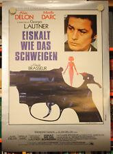 EISKALT WIE DAS SCHWEIGEN - Plakat Poster - ALAIN DELON Mireille Darc
