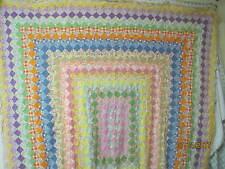 Vintage 1930's cotton Quilt Top Around the World