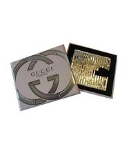 Gucci Bamboo Pocket Silver Compact Purse Mirror . NEW IN BOX